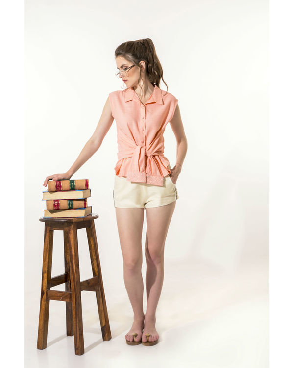 Peach shirt top 2