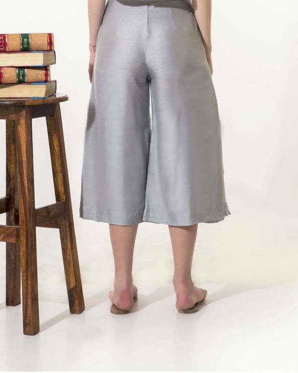 Grey flared pants 1