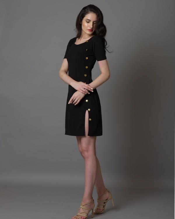 I-see-gold black dress 1