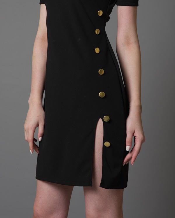 I-see-gold black dress 2
