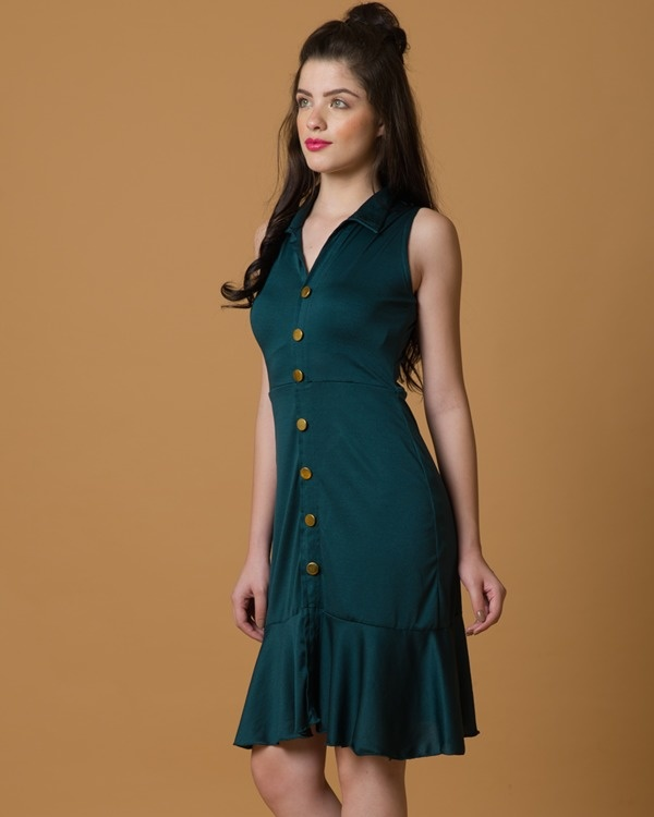 Do-the-swing green dress 2