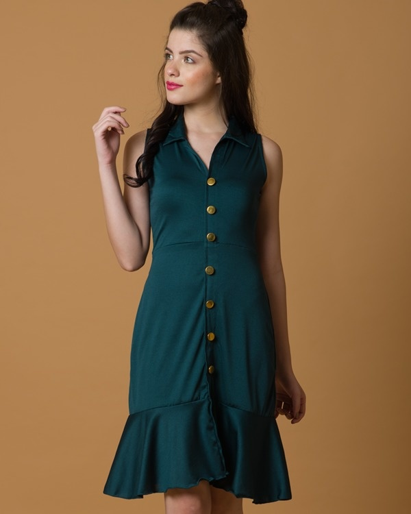 Do-the-swing green dress 3