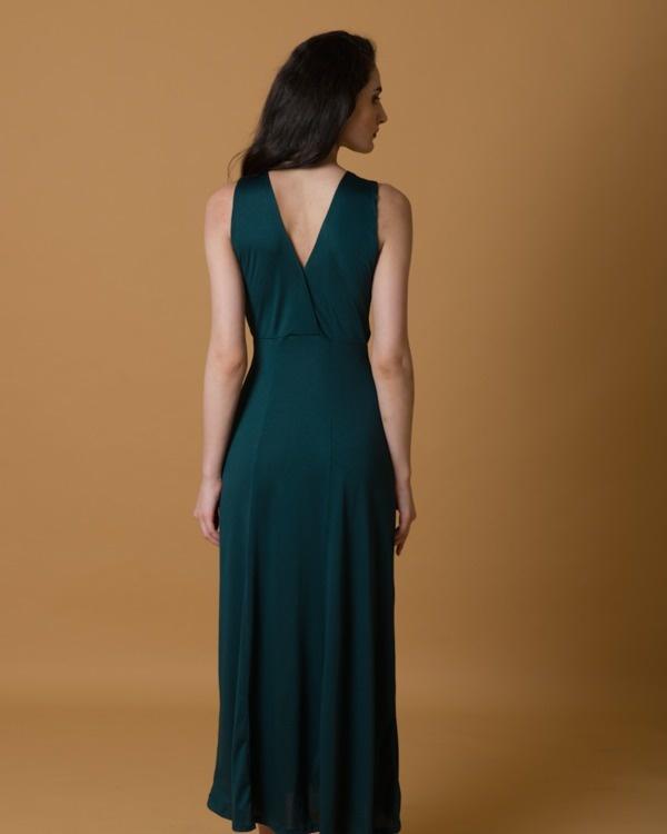 Green criss cross gown 1