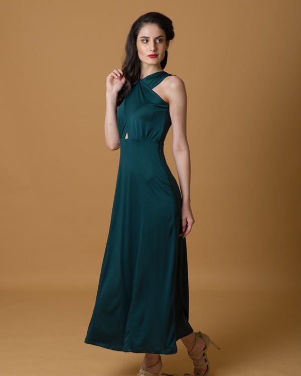 Green criss cross gown 3
