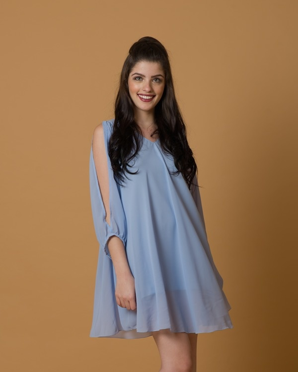 Periwinking-at-you flowy dress 3