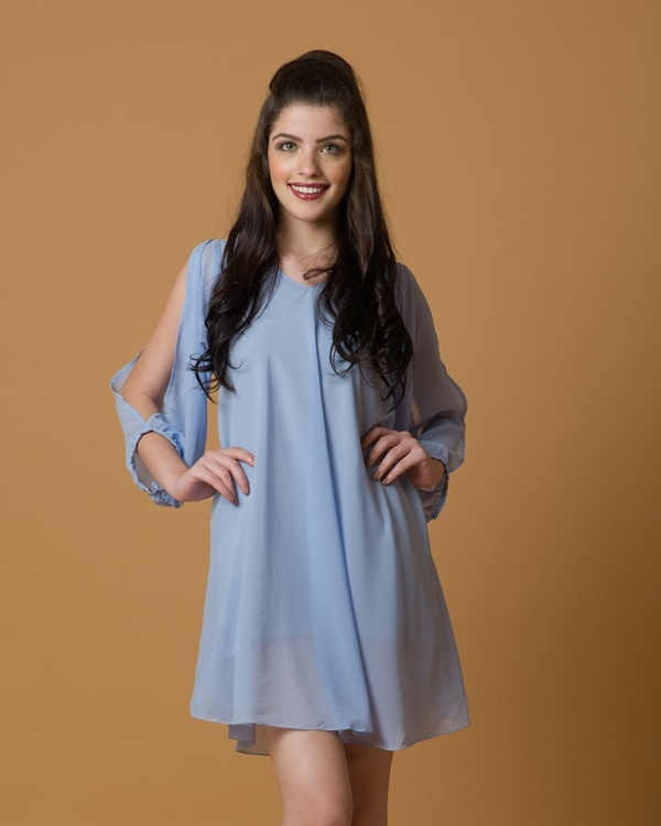Periwinking-at-you flowy dress 4