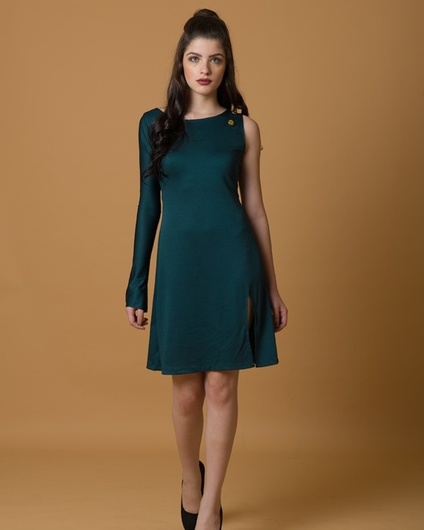 Stand tall one sleeve dress 3