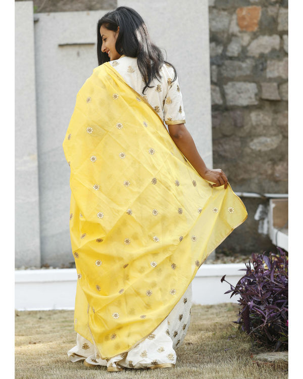 Desi gold yellow dress with dupatta 3