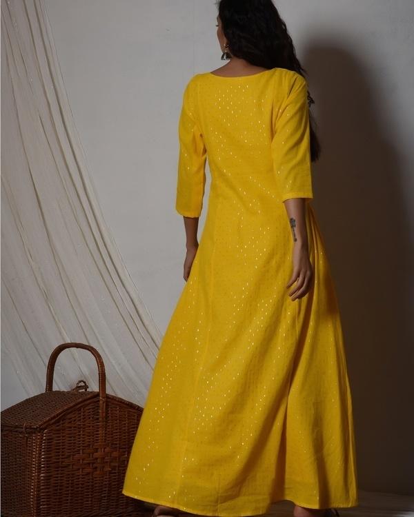 Yellow silver highlight kurta dress 2