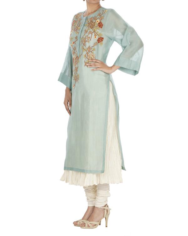 Turquoise kurta set 2