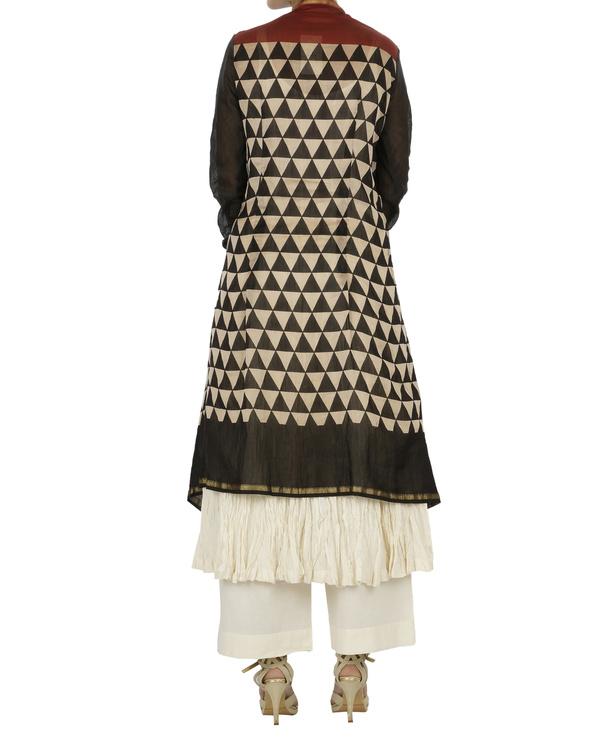 Bagru print drape kurta set 1