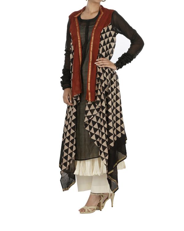 Bagru print drape kurta set 2