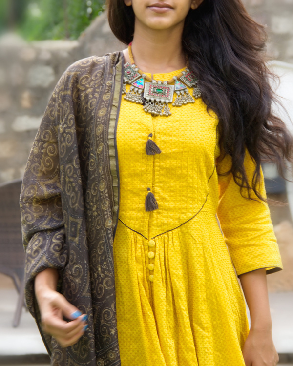 Dandelion tunic with dupatta 4