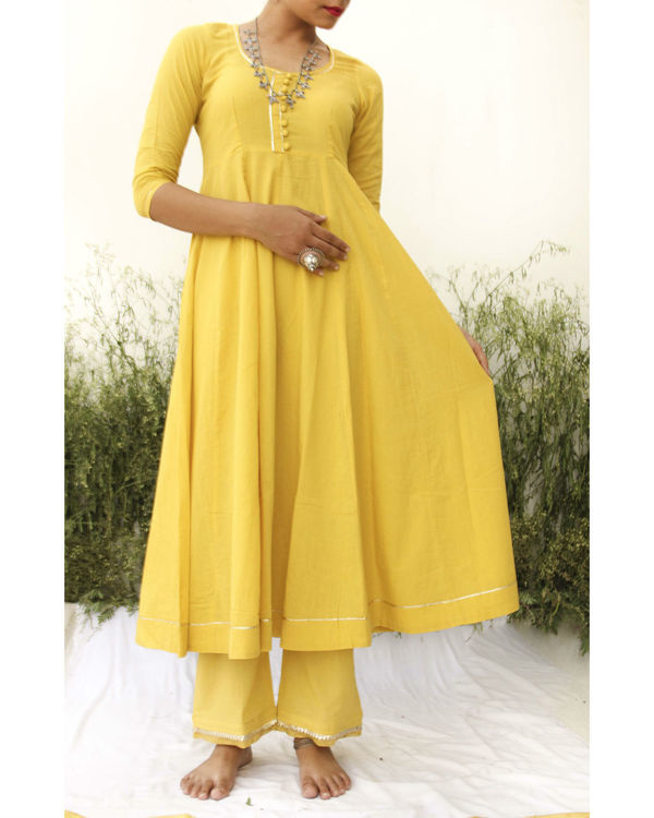 Yellow anarkali suit 2