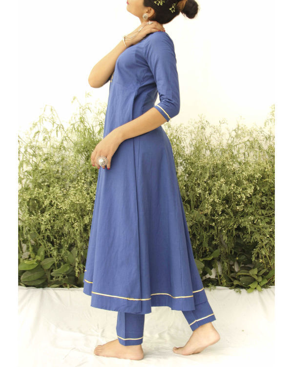 Blue anarkali suit 2