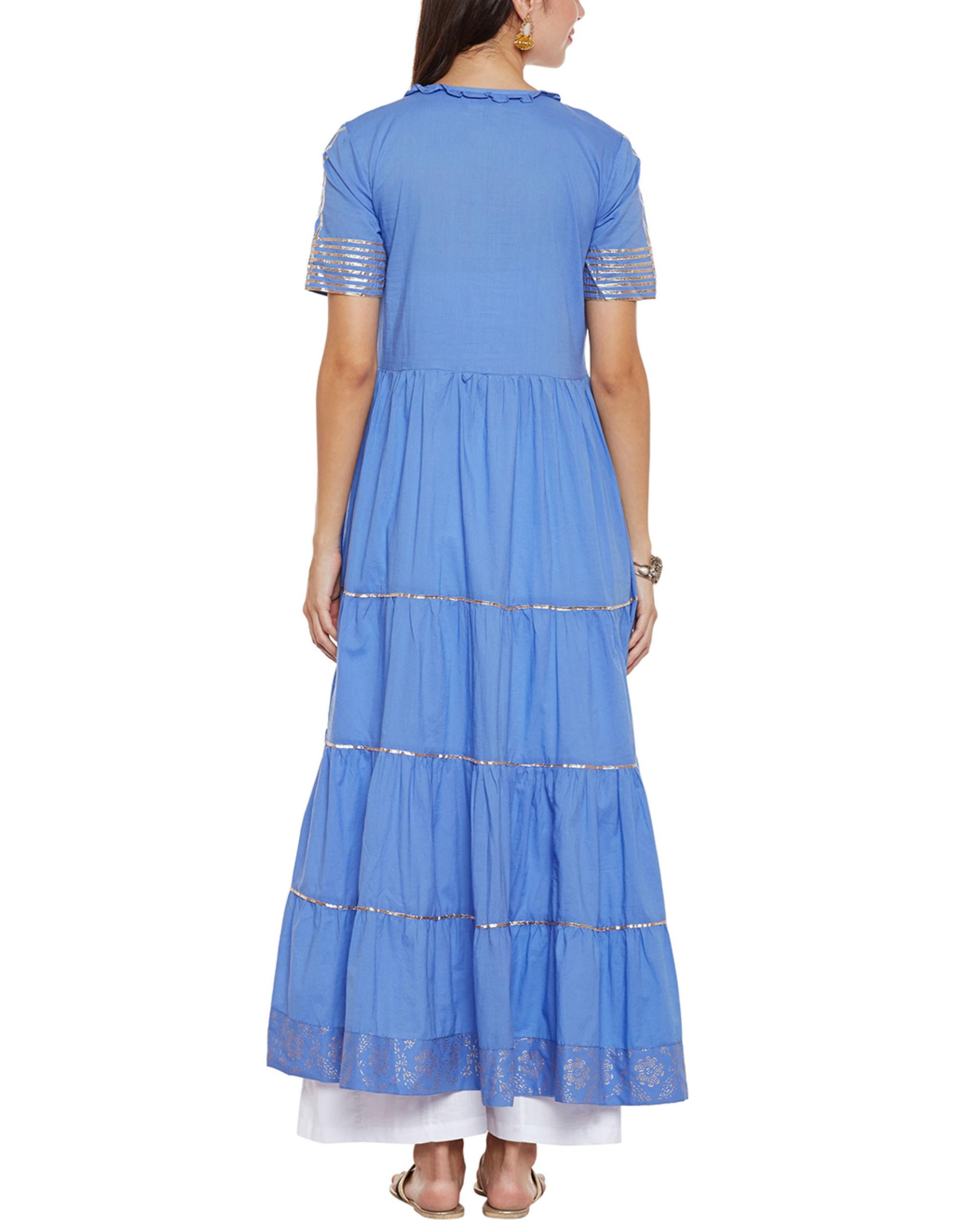 Blue Tier Gota Work Tunic By Lyla The Secret Label