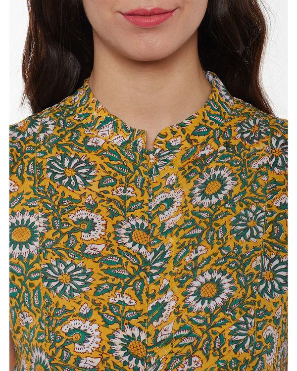 Handblock printed floral tunic 1