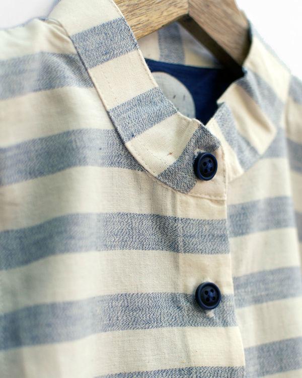 Grey and navy mandarin shirt 3