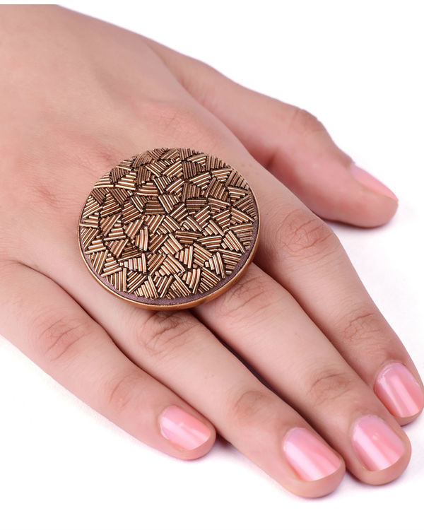 Gold Metal Wire Designer Ring 2