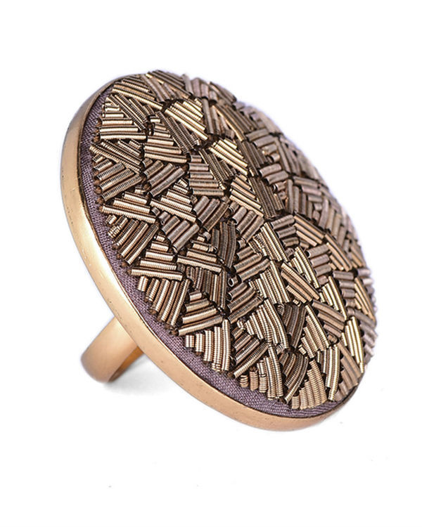 Gold Metal Wire Designer Ring 1