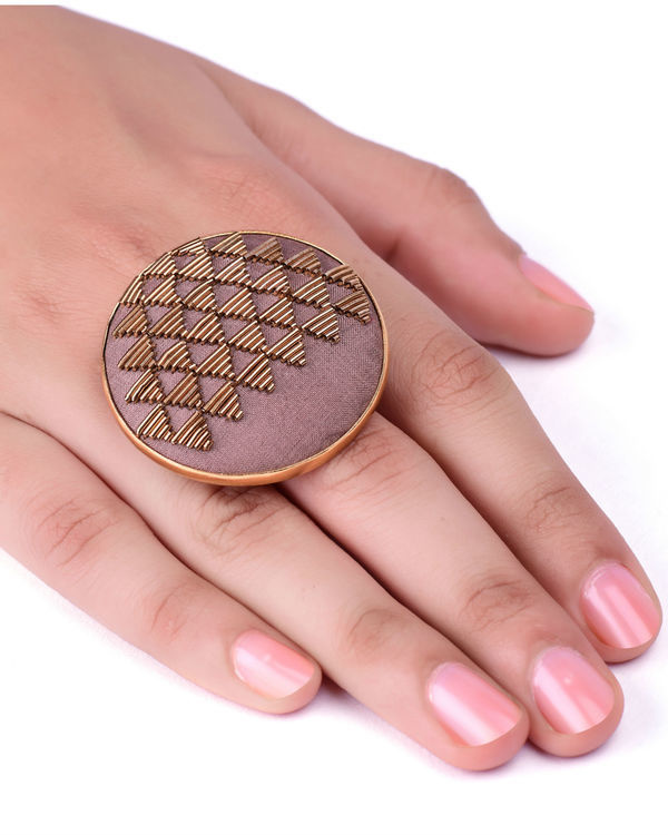 Fawn and Gold Metal Wire Designer Ring 2