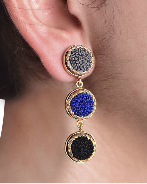 Royal Shades Gold Plated Earrings 1