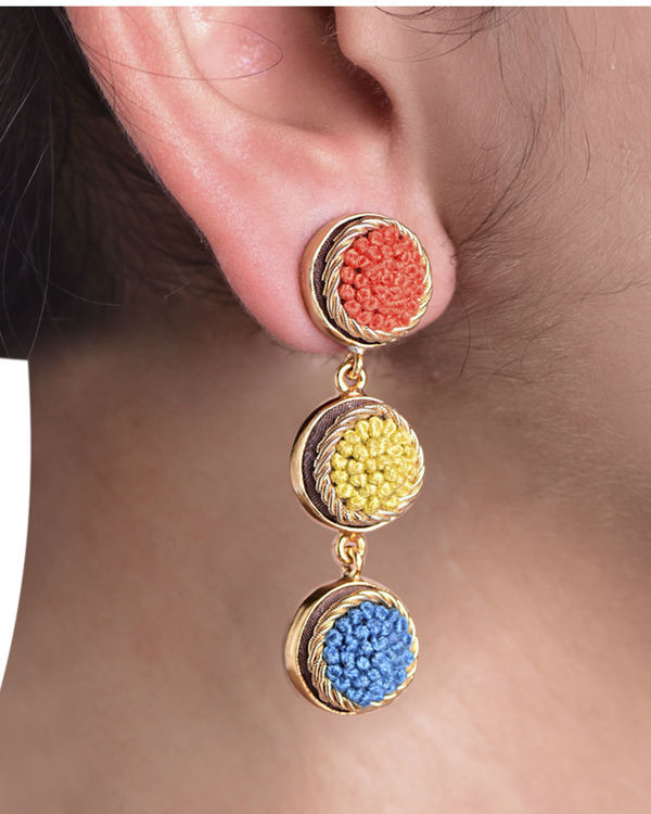 Elegant Shades Gold Plated Earrings 1