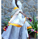 Thumb silvergrey long dress and dupatta set