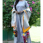 Thumb silvergrey long dress and dupatta set4