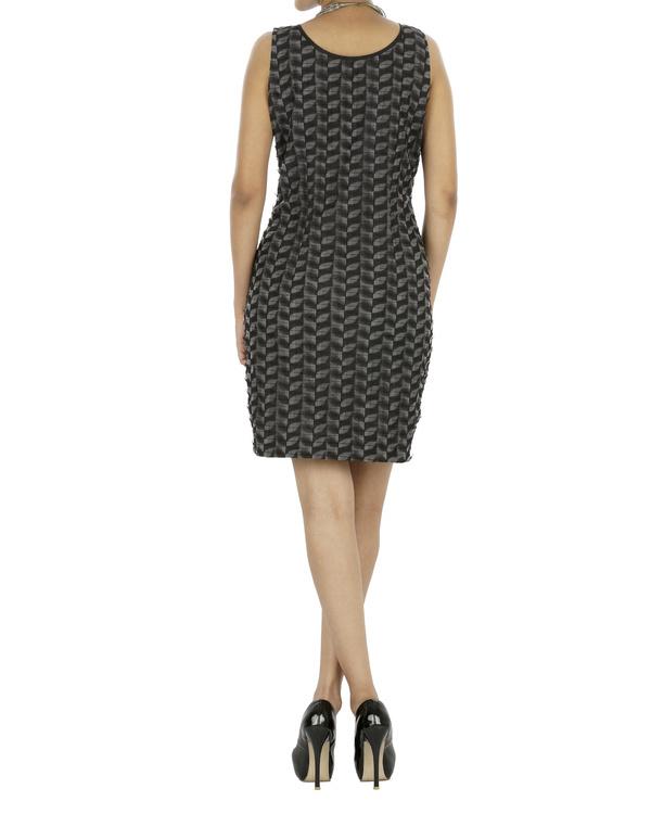 Black and grey shift dress 1