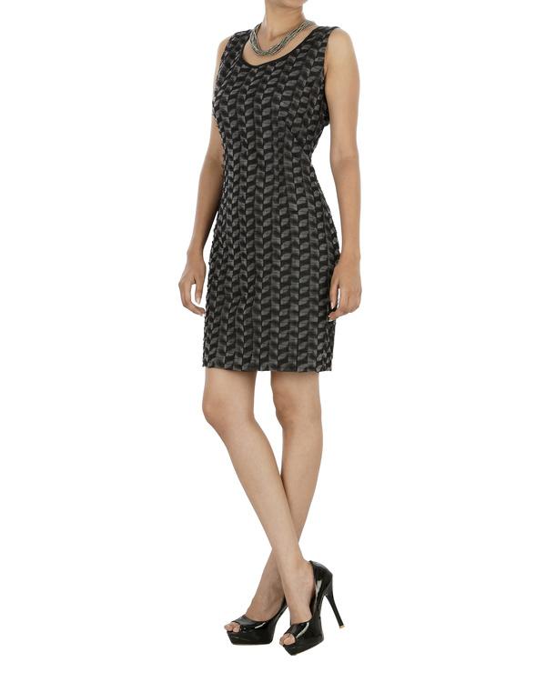 Black and grey shift dress 2