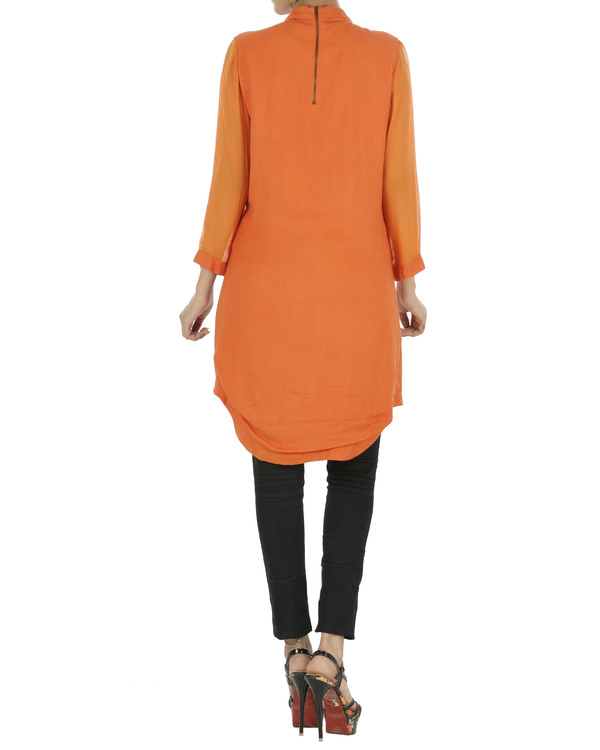 Orange tunic with gota work 1