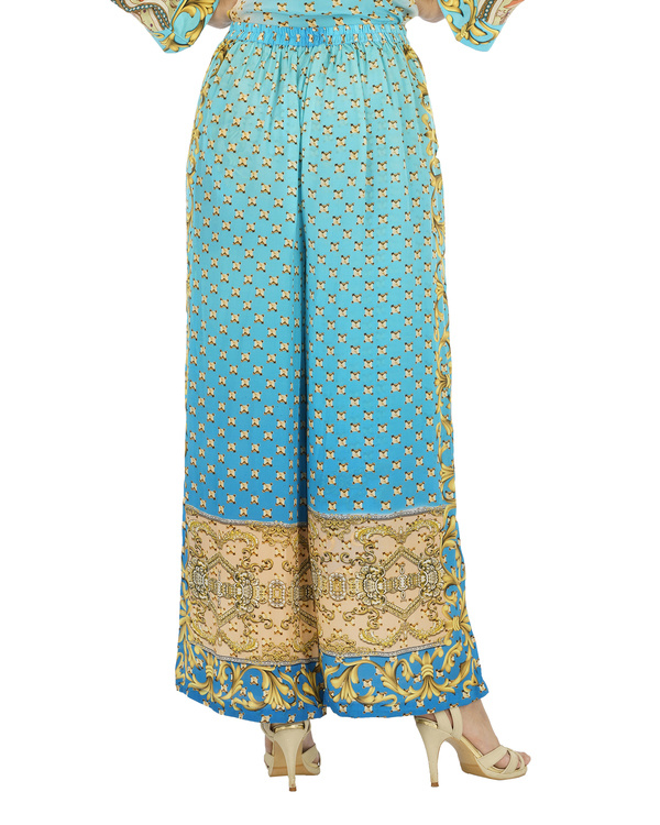 Blue and beige kurta set with palazzo 1