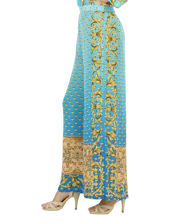 Blue and beige kurta set with palazzo 2