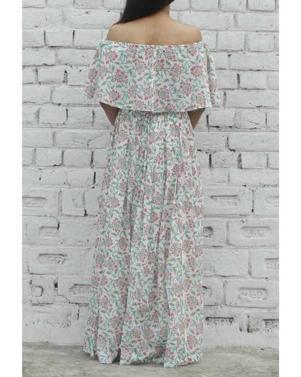Pink off shoulder top and skirt set 1