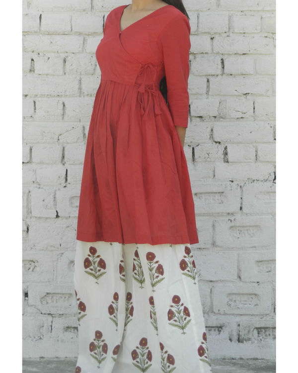 Marsala gathered tunic with skirt 2