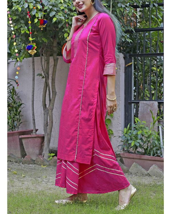 Hot pink sharara set 4