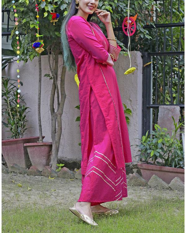 Hot pink sharara set 3