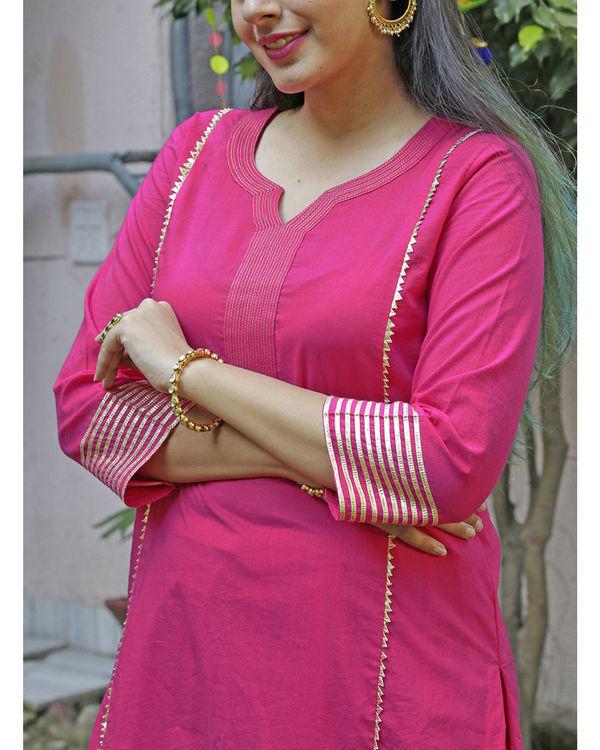 Hot pink sharara set 2