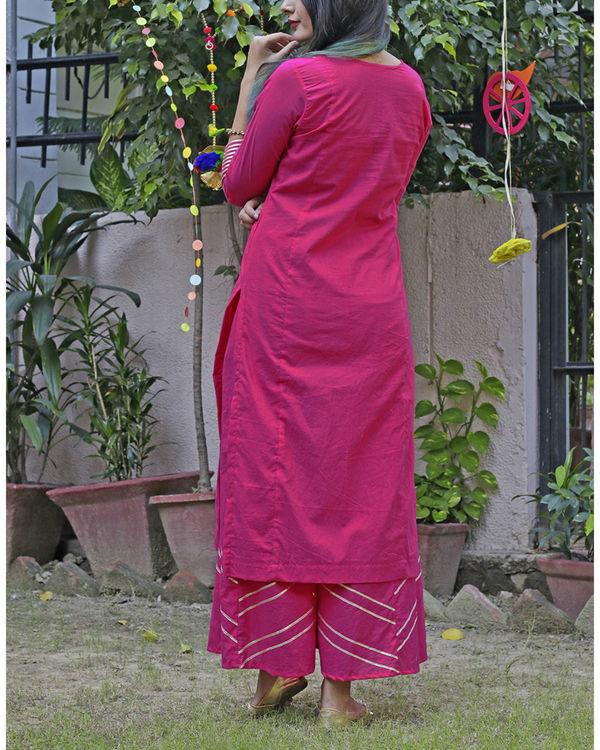 Hot pink sharara set 1
