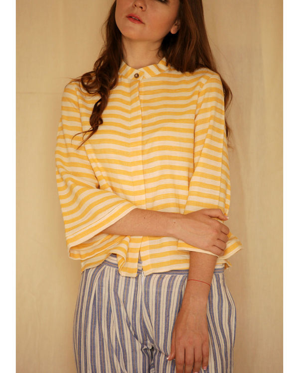 Yellow striped shirt 2