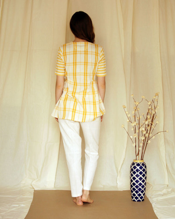 Yellow panelled top 2