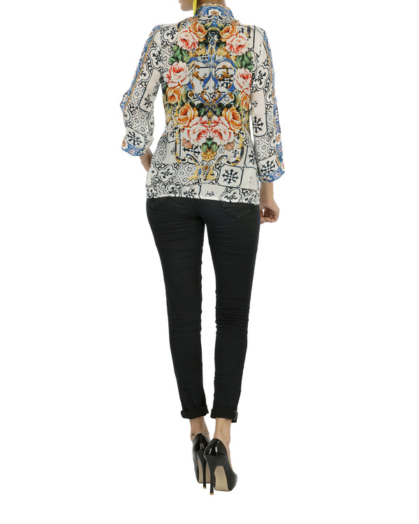 Digitally printed stylized top 1