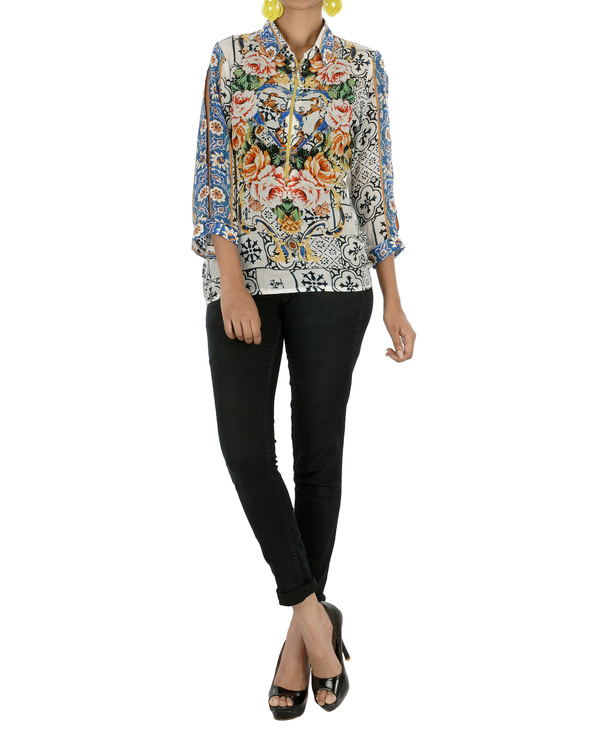 Digitally printed stylized top 2