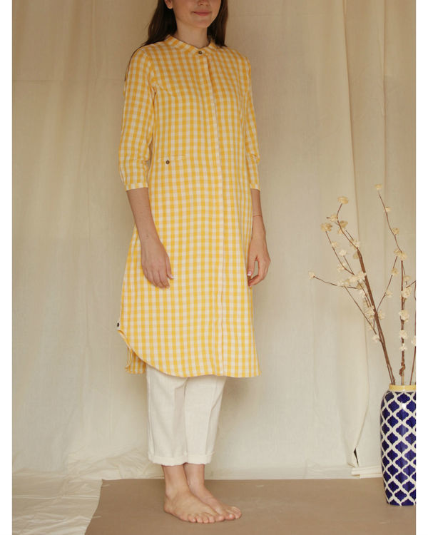 Yellow checkered tunic 3
