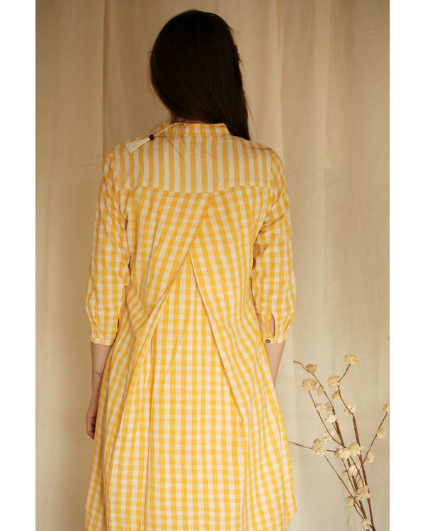 Yellow checkered tunic 1