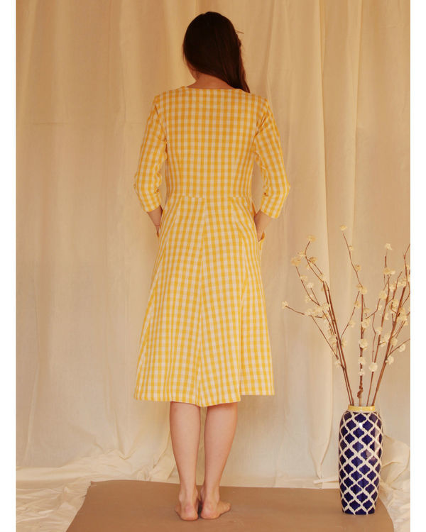 Yellow button down dress 2