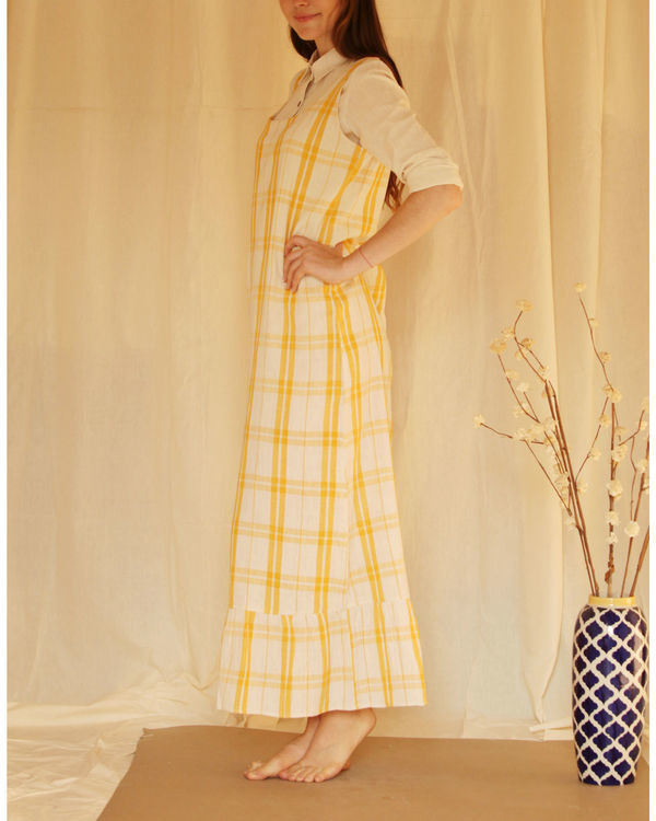 Yellow checkered maxi 2