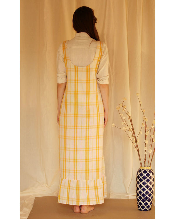Yellow checkered maxi 3