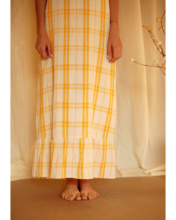 Yellow checkered maxi 1